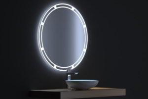 зеркало в ванную комнату с подсветкой фото 14