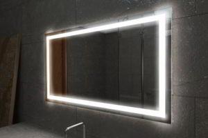 зеркало в ванную комнату с подсветкой фото 16