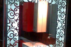 зеркало в ванную комнату с подсветкой фото 20