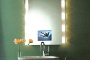 зеркало в ванную комнату с подсветкой фото 39