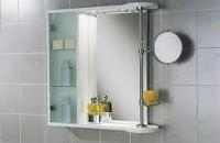 зеркало в ванную комнату со шкафчиком