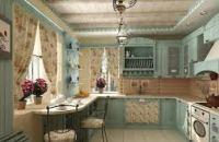 стиль прованс в интерьере кухни фото