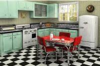 кухни в стиле ретро фото