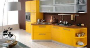 желтая кухня в интерьере фото