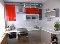 дизайн малогабаритной угловой кухни фото