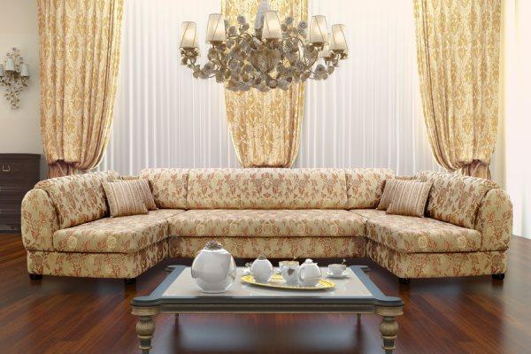 классическая мягкая мебель для гостиной фото