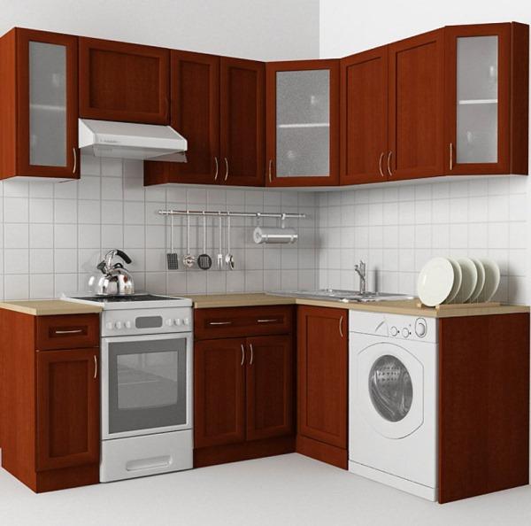 коричневые кухни фото дизайн угловые маленькие