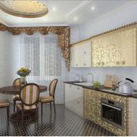 красивые ламбрекены на кухню фото 18
