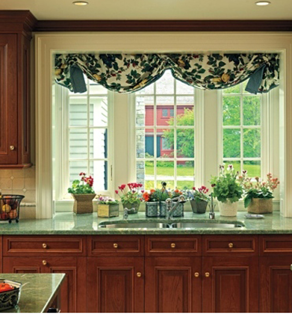 красивые ламбрекены на кухню фото 2