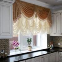красивые ламбрекены на кухню фото 24