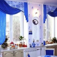 красивые ламбрекены на кухню фото 36