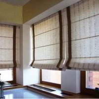римская штора на кухню фото 13