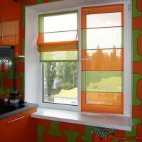 римская штора на кухню фото 20