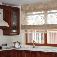 римская штора на кухню фото 24