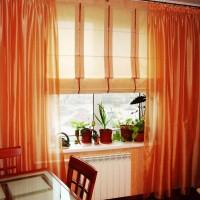 римская штора на кухню фото 25