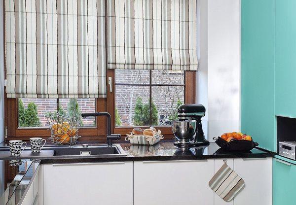 римская штора на кухню фото 27