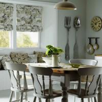 римская штора на кухню фото 28