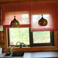 римская штора на кухню фото 30