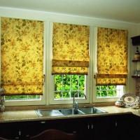 римская штора на кухню фото 34