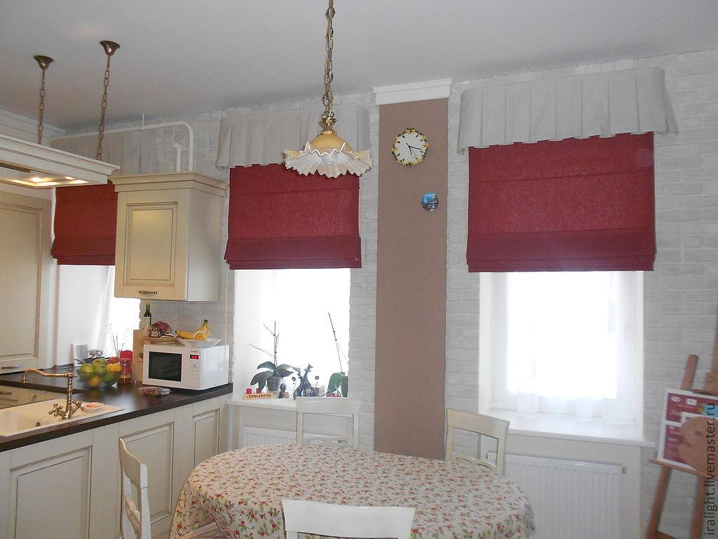 римские шторы в интерьере кухни фото 16
