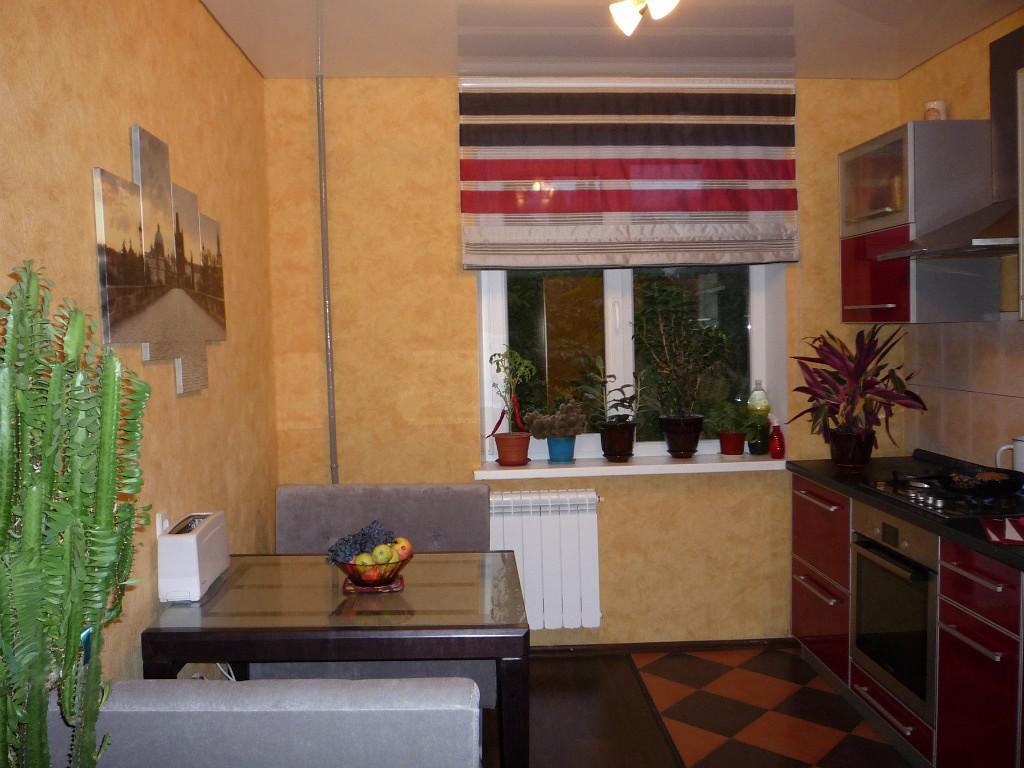 римские шторы в интерьере кухни фото 17
