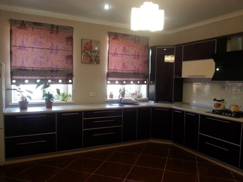 фото красивых штор на кухню