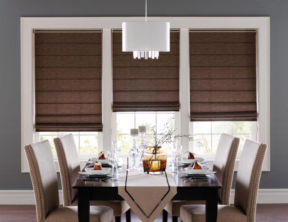 классические шторы на кухню фото