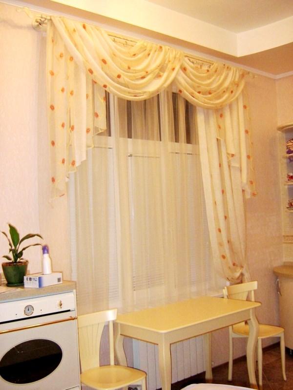 шторы и ламбрекены для кухни фото