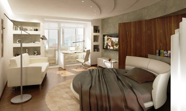 дизайн интерьера однокомнатной квартиры-студии фото 12