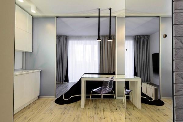 дизайн интерьера однокомнатной квартиры студии фото 4