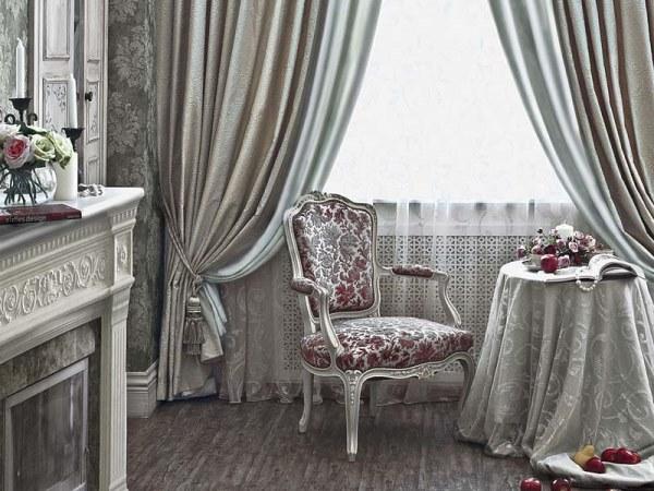 дизайн портьер и штор для гостиной фото