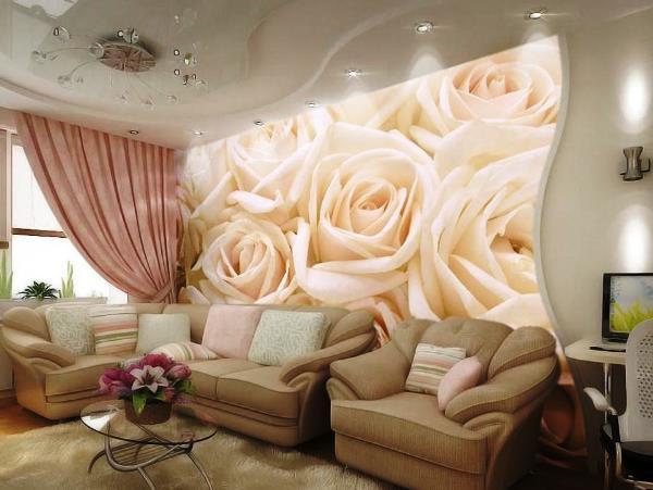 фотообои 3д для стен каталог фото розы