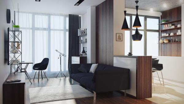 интерьер однокомнатной квартиры хрущевки фото
