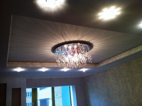 какие люстры подходят для натяжных потолков фото