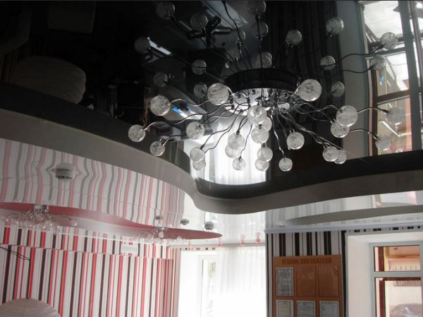 люстры для глянцевых натяжных потолков фото