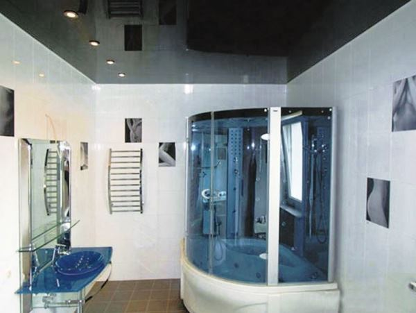 натяжной потолок в ванной комнате отзывы фото