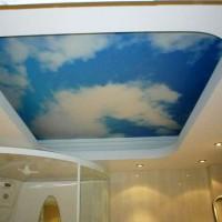 натяжные потолки в ванной фото 11