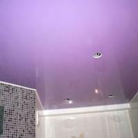 натяжные потолки в ванной фото 20