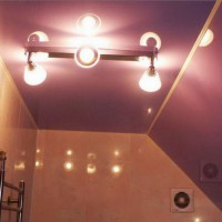 натяжные потолки в ванной фото 22