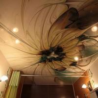 натяжные потолки в ванной фото 24