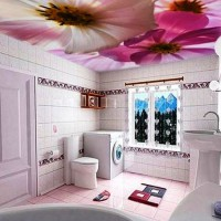 натяжные потолки в ванной фото 25