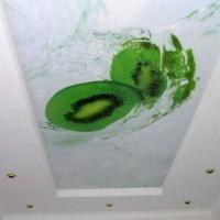 натяжные потолки в ванной фото 29