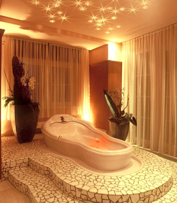 натяжные потолки в ванне фото 6