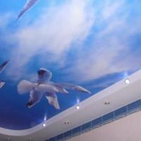 натяжные потолки в ванной фото 7