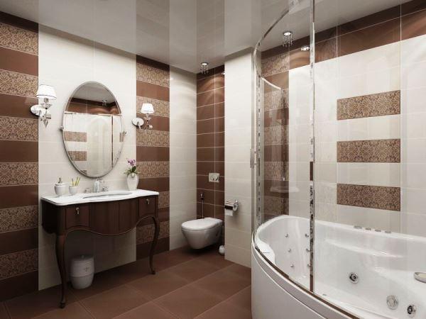 натяжные потолки в ванной фото дизайн