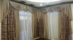 портьеры для гостиной фото