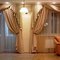 портьеры в гостиную фото 22
