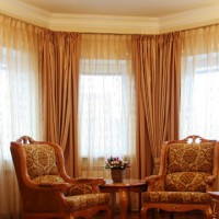 портьеры в гостиную фото 31