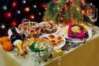 сервировка новогоднего стола 2018