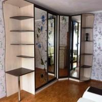угловые шкафы купе в спальню дизайн фото 31